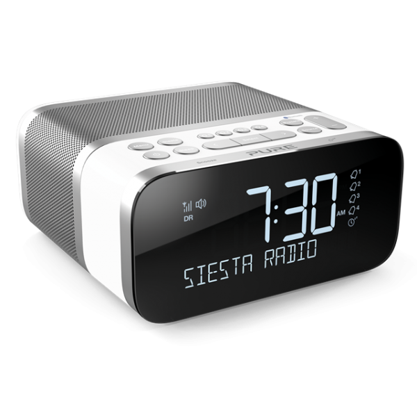 siesta s6 dab radio alarm clock unveiled by pure oxgadgets. Black Bedroom Furniture Sets. Home Design Ideas