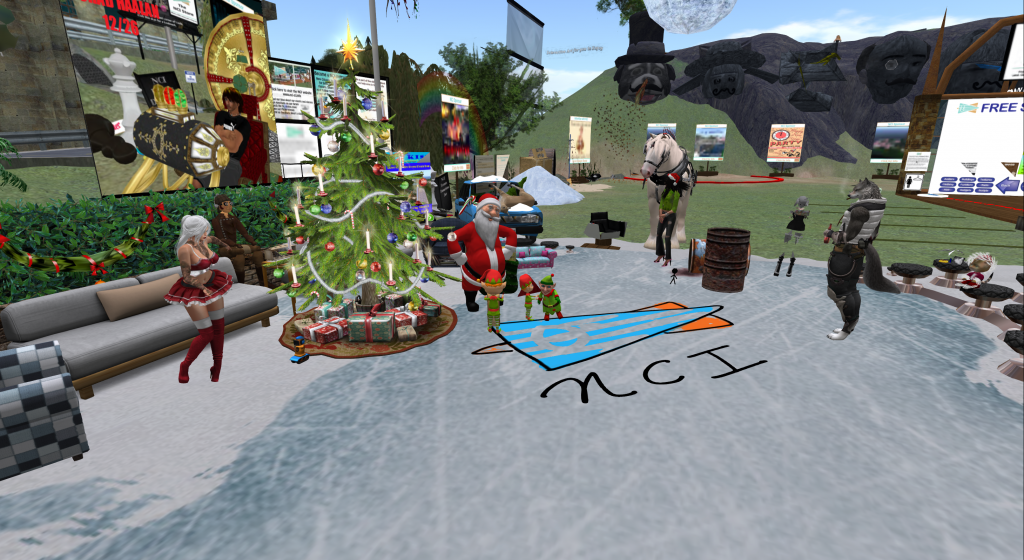 Getting in the Christmas spirit at NCI. Second Life.