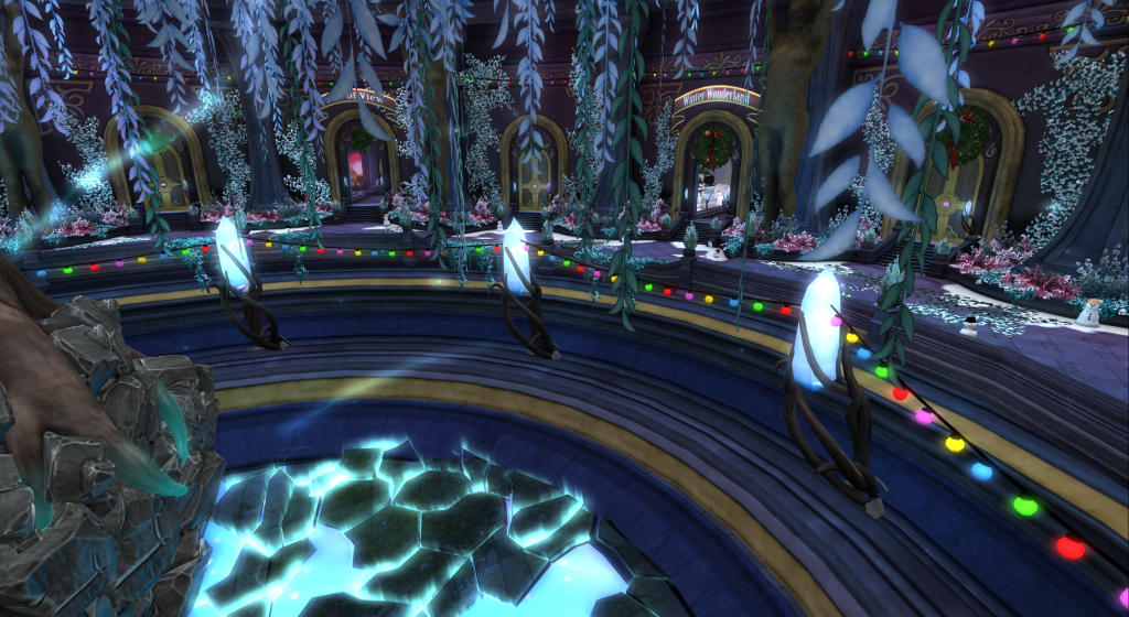 Deciding on a location at Portal Park. Second Life.