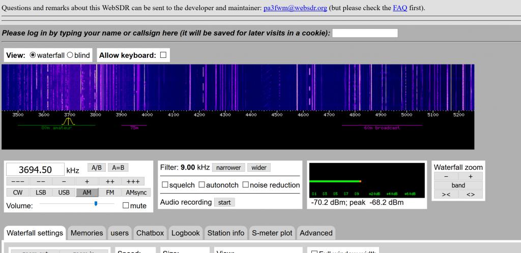 web browser based radio tuner at WebSDR.