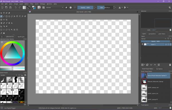 raster art, raster, raster editor, ppi, digital art, tutorials, how to, guide, beginners, krita, photoshop, windows 10, apps, art, programs, technology, open source, workspace, desktop, set up, configure, configuration, canvas, dpi