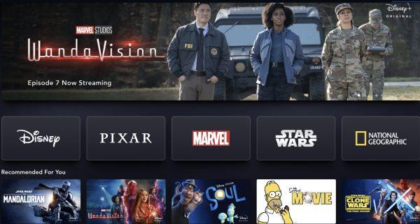Disney Plus UI