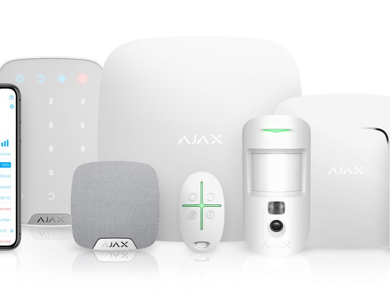 Ajax Smart Security System - hub and devices